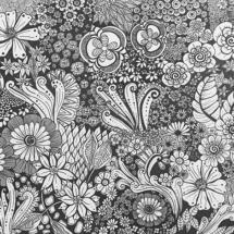 zentangle, flowers, floral, zendala, doodle art, doodle, zendoole, black and white, monotone, zen art, llustration, artist, tattoo, design, designer, mersea island, mural